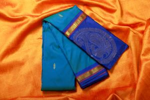 Blue and Light Purple Color Fine Quality Soft Silk Saree