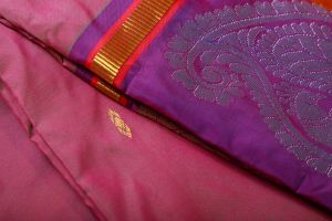 Dark Pink and Purple Color Fine Quality Soft Silk Saree
