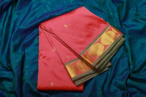 Peach Color Fine Quality Soft Silk Saree